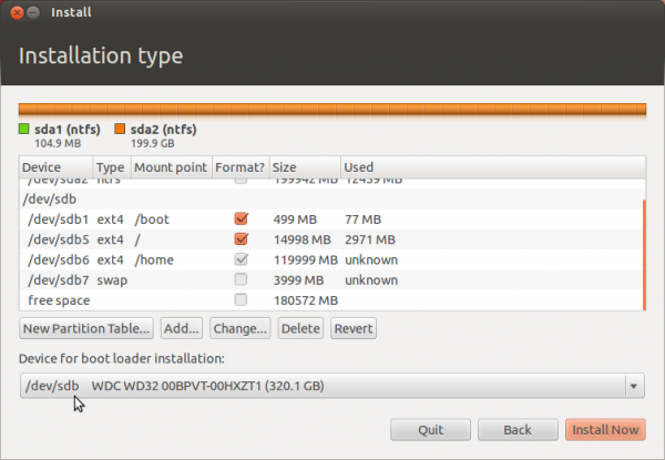 Ubuntu 12.04 Partitions