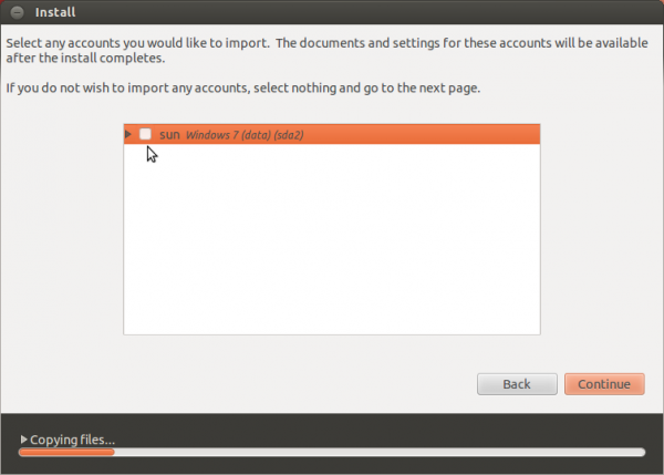 Ubuntu 12.04 Import Windows Settings
