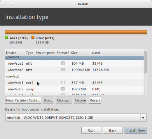 Pear Linux 5 Install Advanced Partition