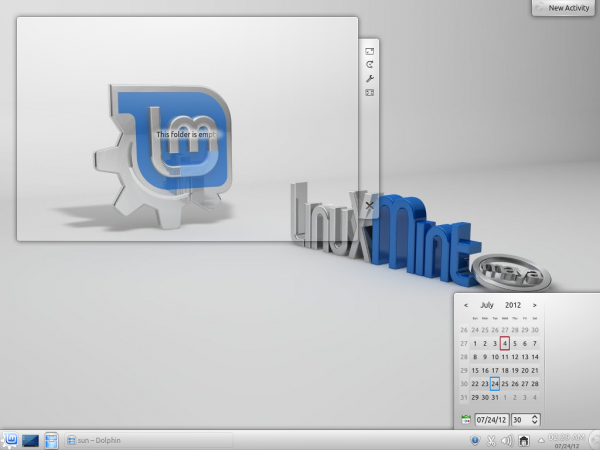 Linux Mint 13 KDE Date