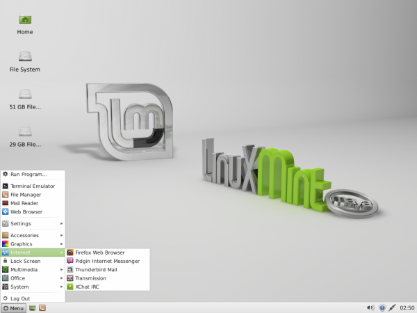 Linux Mint 13 Xfce Desktop