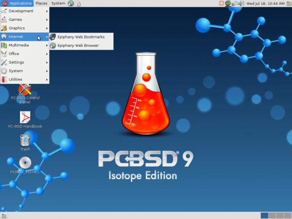 PC-BSD 9.1 GNOME