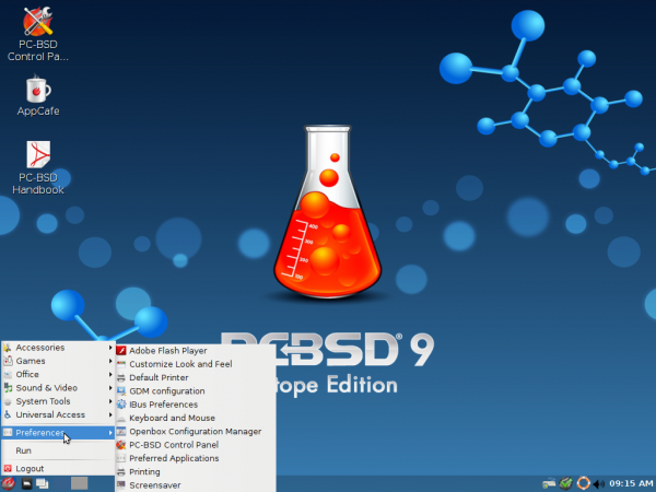 PC-BSD 9.1 LXDE Desktop