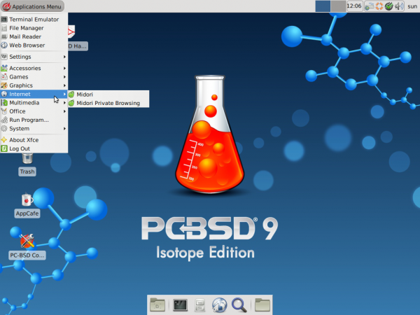 PC-BSD 9.1 Xfce Desktop