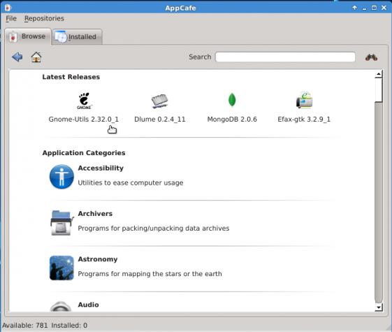 PC-BSD 9.1 AppCafe