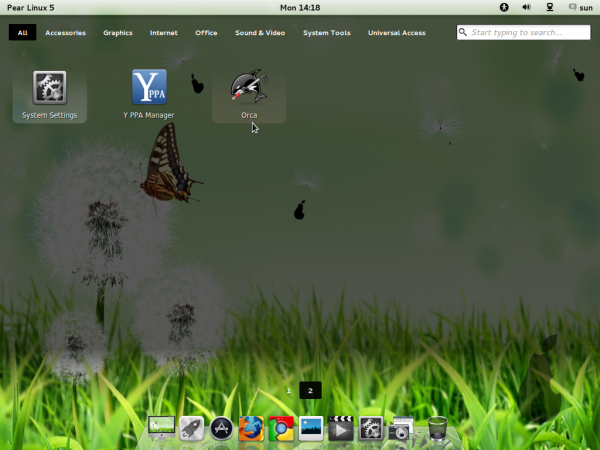 Pear Linux 5 App Launchers