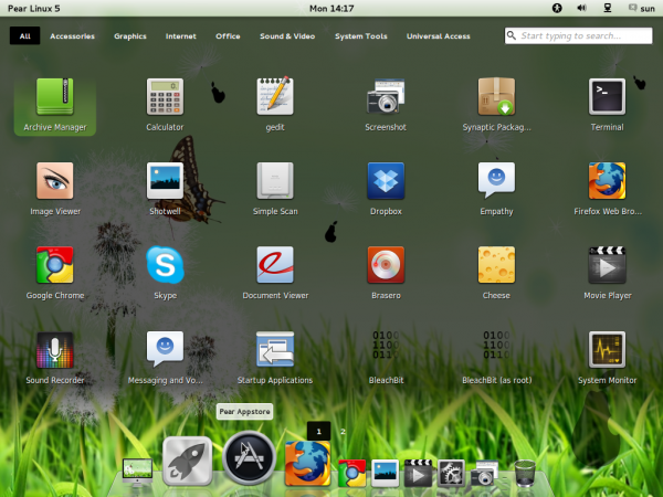 Pear Linux 5 App Launcher
