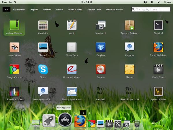 Pear Linux 5 App Launcher