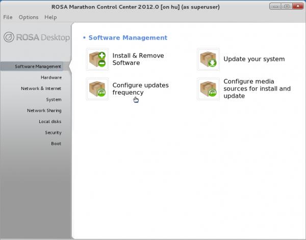 ROSA Marathon 2012 Control Center