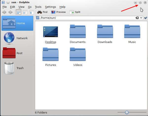 Titlebar Dolphin Sabayon 9 KDE
