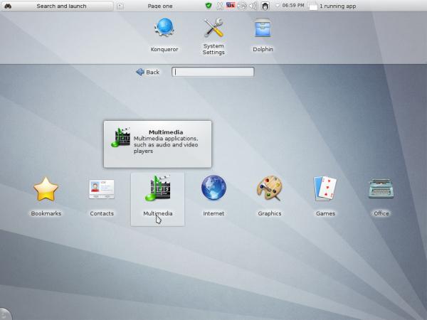 Sabayon 9 KDE Plasma NetbooK