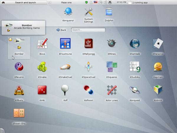 Sabayon 9 KDE Plasma NetbooK Games