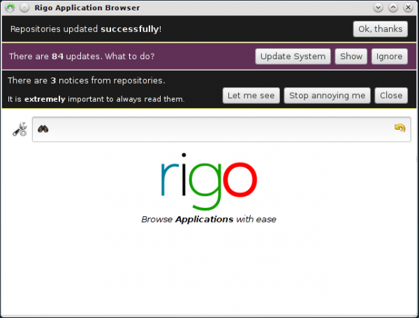 Sabayon Rigo Package Manager