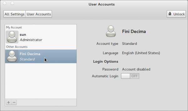 User Account List