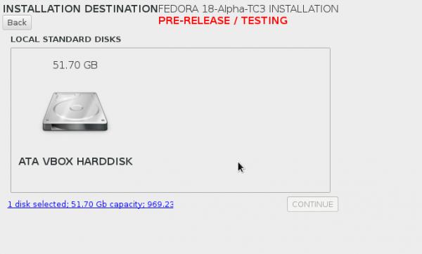 Anaconda Disk Setup