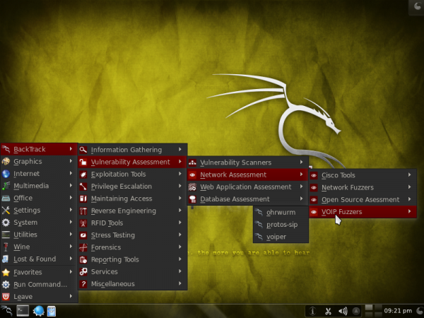 BackTrack 5 or Kali Linux 1.0