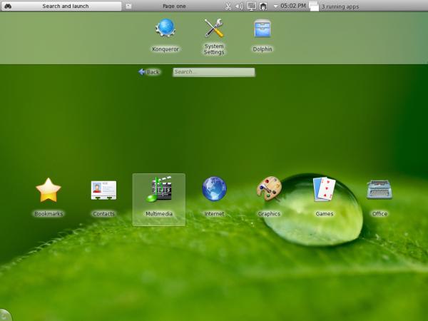 Chakra KDE Netbook