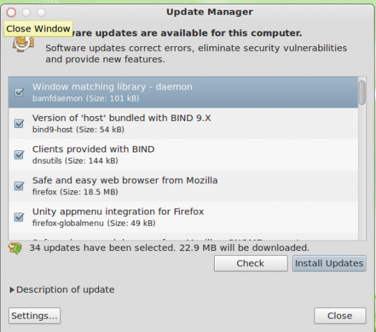 Pear 5 Update Manager