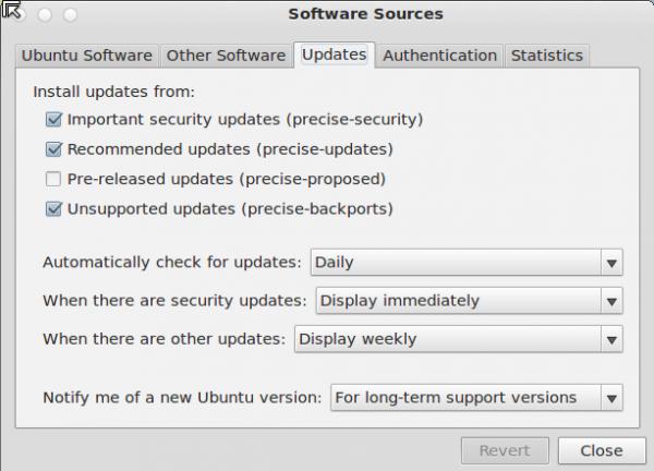 Pear 5 Update Settings