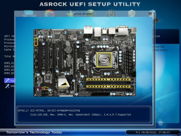 ASRock UEFI Motherboard Browser