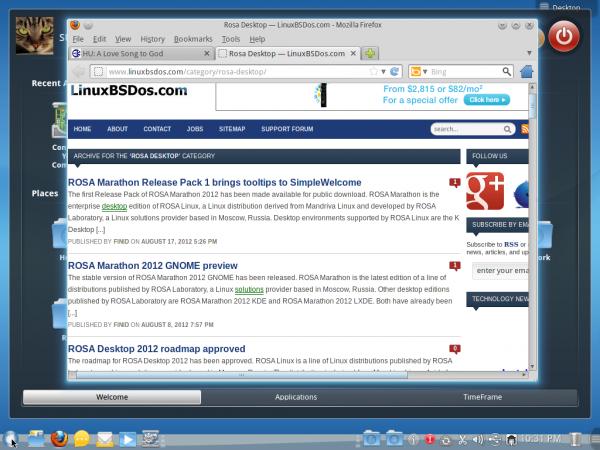ROSA Desktop SimpleWelcome
