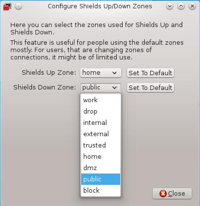 Firewalld Shields