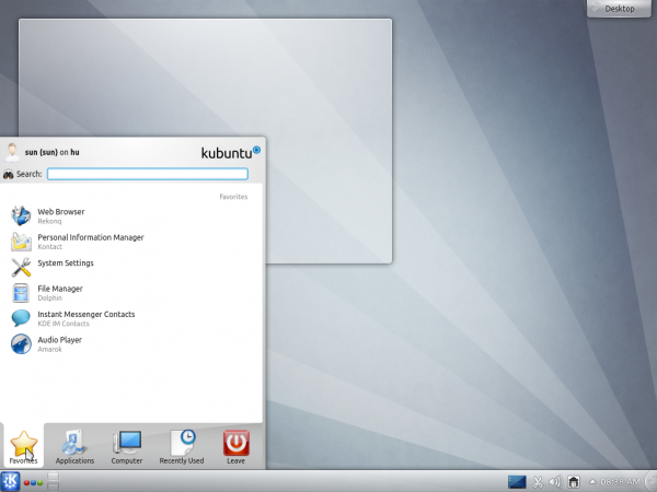 Kubuntu Beta Desktop