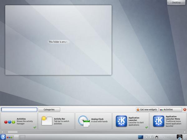 Kubuntu Beta Widgetbox