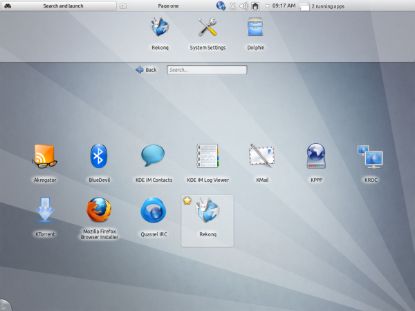 Kubuntu Beta Netbook