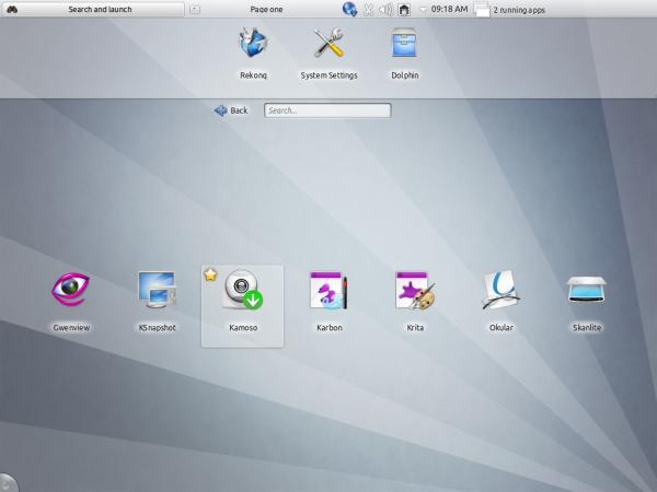 Kubuntu Beta Netbook App