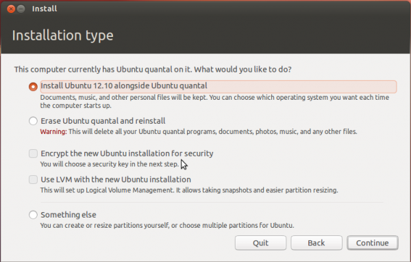 Full disk encryption and LVM configuration in Ubuntu's graphical installer