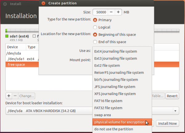 Pre-release Ubuntu 12.10 has partial support for manual LVM and disk encryption