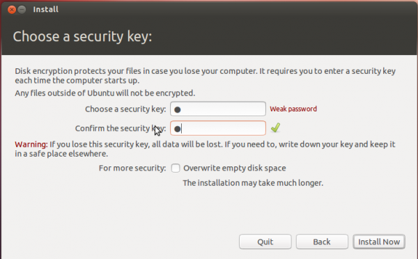 Disks Encryption Passphrase