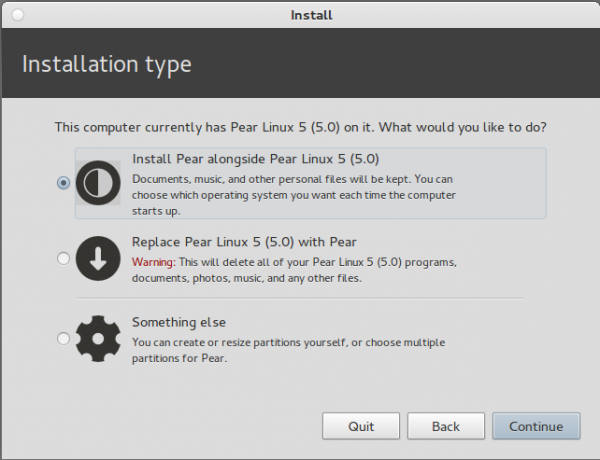 Pear Linux 5 Install