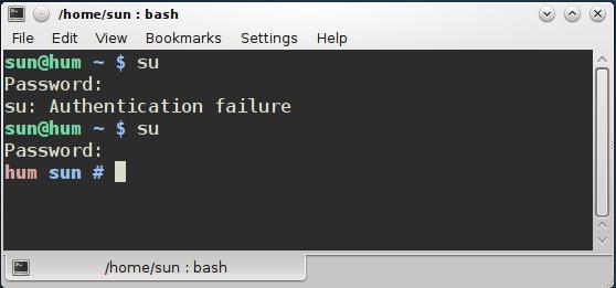 Terminal KDE SU