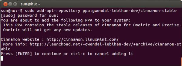 Ubuntu Cinnamon Install