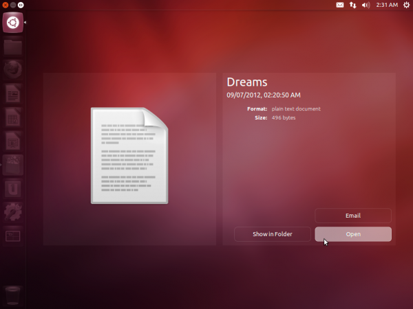 Ubuntu 12.10 Dash Preview