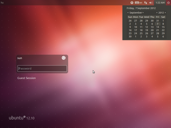 Ubuntu 12.10 Beta Login