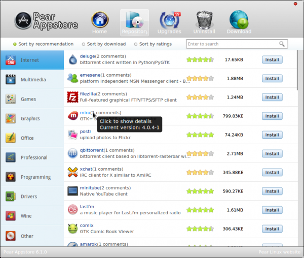 Pear Linux 6 Appstore Repo