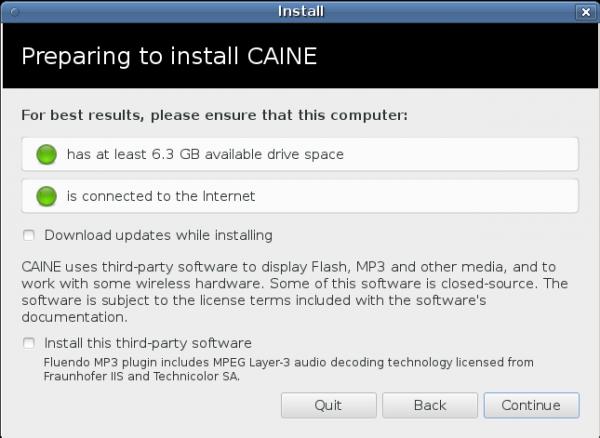Caine 3 Installer