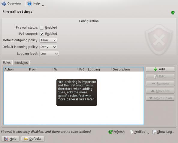 Chakra Firewall Disabled