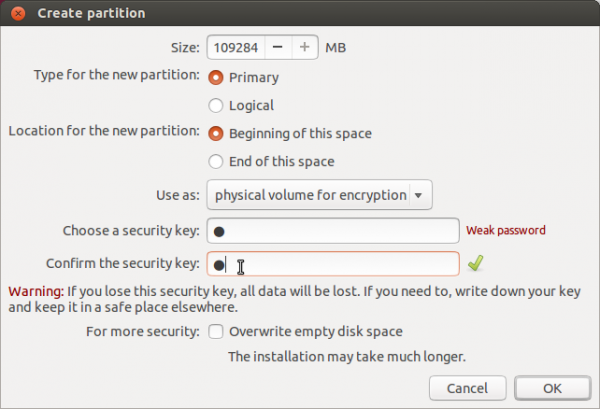 Disk Encryption Passphrase