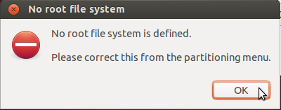 Partition Error