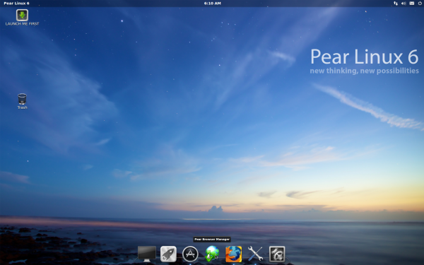 Pear Linux 6 Desktop