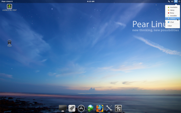 Pear Linux 6 Desktop Online