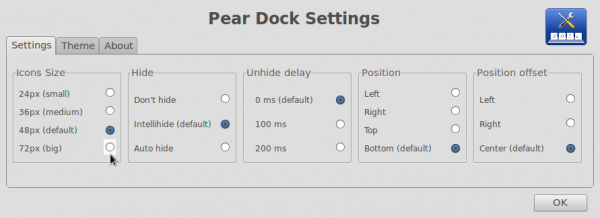 Pear Linux 6 Dock Manager