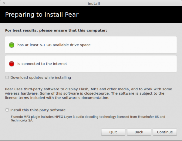 Pear Linux 6 Install Specs