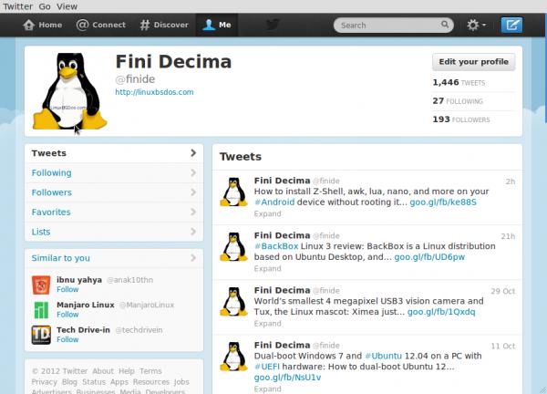 Pear Linux Webapps Twitter