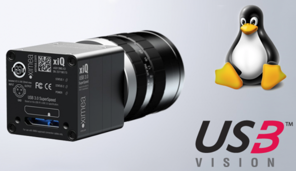 World's smallest 4 megapixel USB3 vision camera and Tux, the Linux mascot