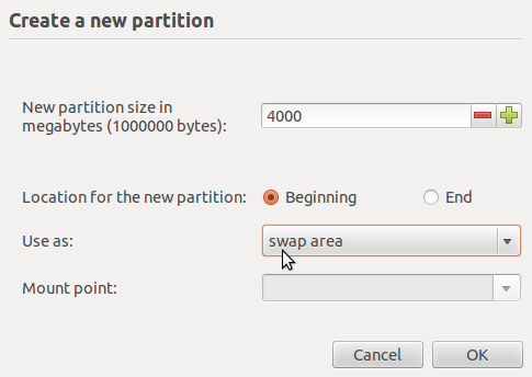 Create Swap Partition